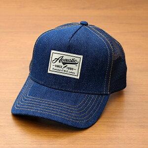 アコースティック[Acoustic]「デニムメッシュキャップ」(全2色)(66-az6000)メンズレディースユニセックスブランド帽子ベースボールキャップBBキャップデニムOTTOオットーシンプルアメカジ春夏≪あす楽対応≫