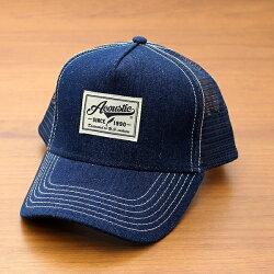 アコースティック[Acoustic]「デニムメッシュキャップ」(WHITE/ホワイト)(66-az6000)メンズレディースユニセックスブランド帽子ベースボールキャップBBキャップデニムOTTOオットーシンプルアメカジ春夏
