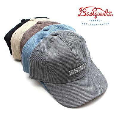 ベーシックエンチBasiquentiオールドキャップコーデュロイキャップリバーアップ帽子メンズレディースブランドINTHECITYワッペンおしゃれカジュアルアメカジアウトドアストリートヴィンテージベージュブラックブルーブラウングレー(09-bctn11705)