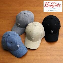 ベーシックエンチ[BASIQUENTI]「ハンドサイン刺繍ツイルキャップ」(全4色)(09-bchm62939)メンズレディースユニセックスブランド帽子ローキャップコットンツイル刺繍ワンポイントリバーアップカジュアルアメカジヴィンテージ≪あす楽対応≫