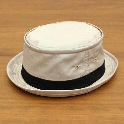 ベーシックエンチ[BASIQUENTI]「コットンツイルテラピンチ」(BEIGE/ベージュ)(09-rus210)メンズレディースユニセックスブランド帽子ハットポークパイ無地アメカジストリートアウトドアリバーアップ