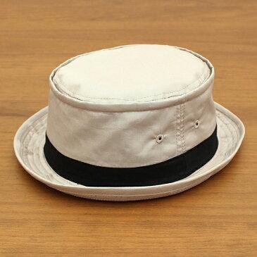 ベーシックエンチ[BASIQUENTI]「コットンツイル テラピンチ」(BEIGE/ベージュ)(09-rus210)メンズ レディース ユニセックス ブランド 帽子 ハット ポークパイ 無地 アメカジ ストリート アウトドア リバーアップ