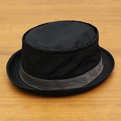 ベーシックエンチ[BASIQUENTI]「コットンツイルテラピンチ」(BLACK/ブラック)(09-rus210)メンズレディースユニセックスブランド帽子ハットポークパイ無地アメカジストリートアウトドアリバーアップ