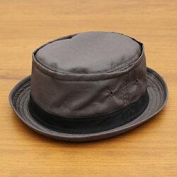 ベーシックエンチ[BASIQUENTI]「コットンツイルテラピンチ」(GRAY/グレー)(09-rus210)メンズレディースユニセックスブランド帽子ハットポークパイ無地アメカジストリートアウトドアリバーアップ