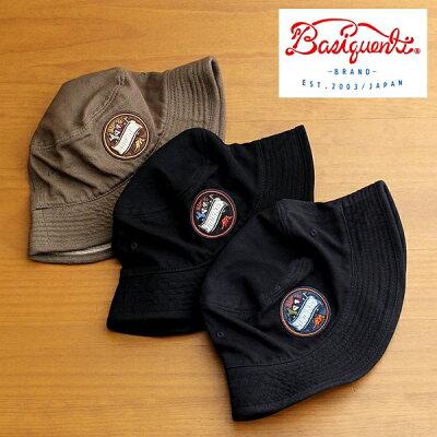 【あす楽対応】バケットハット帽子メンズレディースブランドベーシックエンチBASIQUENTIリバーアップRIVER-UPワッペンツイルハットカジュアルアメカジアウトドアストリートルードヴィンテージおしゃれブラックネイビーオリーブ(09-bcwk62933)