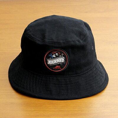 バケットハット帽子メンズレディースブランドベーシックエンチBASIQUENTIリバーアップRIVER-UPワッペンツイルハットカジュアルアメカジアウトドアストリートルードヴィンテージおしゃれブラック黒(09-bcwk62933)