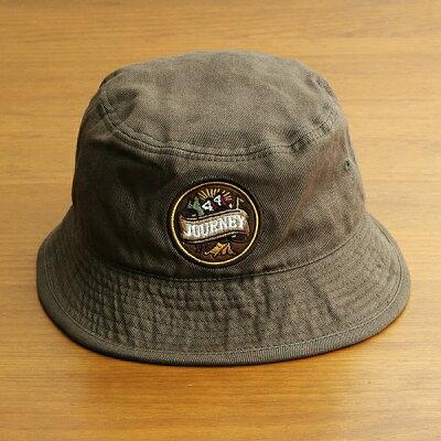 バケットハット帽子メンズレディースブランドベーシックエンチBASIQUENTIリバーアップRIVER-UPワッペンツイルハットカジュアルアメカジアウトドアストリートルードヴィンテージおしゃれオリーブカーキグリーン(09-bcwk62933)