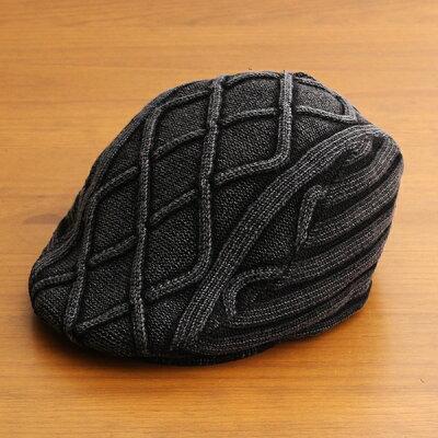 【1つまでメール便OK】ハンチング帽子メンズレディースブランドベーシックエンチBASIQUENTIリバーアップRIVER-UPコットンニットデニムカジュアルアメカジアウトドアルードヴィンテージおしゃれブラック黒(09-bcre70131)