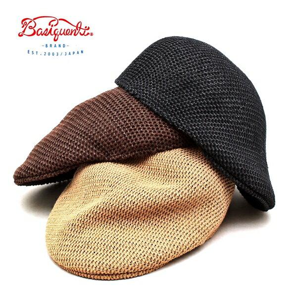 【送料無料】ハンチング 帽子 メンズ レディース ブランド ベーシックエンティ BASIQUENTI リバーアップ RIVER-UP ペーパー サーモ ハンチング 無地 カジュアル アメカジ トラッド ルード ストリート アウトドア おしゃれ 2020年 ベージュ ブラック ブラウン (09-bcan80201)