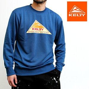 【送料無料】 ケルティ KELTY ヴィンテージロゴクルー メンズ レディース ユニセックス ブランド トレーナー プルオーバー ブランドロゴ プリント カジュアル アメカジ アウトドア ストリート ヴィンテージ 2021年 新作 ベージュ ブラック グレー ブルー (66-ke21113002)