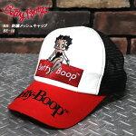 BETTYBOOP/ベティー・ブープ刺繍メッシュキャップ