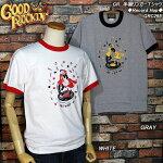 GOODROCKIN'/グッドロッキン/レコードホップデザインリンガーT