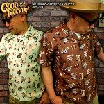GOODROCKIN'グッドロッキン/1950Sアブストラクトプリントシャツ