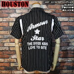 HOUSTON/ヒューストン/ストライプボーリングシャツ
