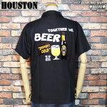 HOUSTON/ヒューストン/ビール柄刺繍ボウリングシャツ