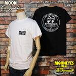 ムーンアイズ35周年ムーンイクイップドラウンドロゴTシャツ