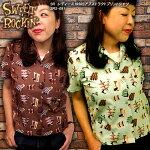 SWEETROCKIN'スウィートロッキン/1950Sアブストラクトプリントシャツ