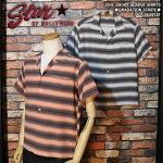 スターオブハリウッド/半袖オープンシャツ/グラデーションストライプ
