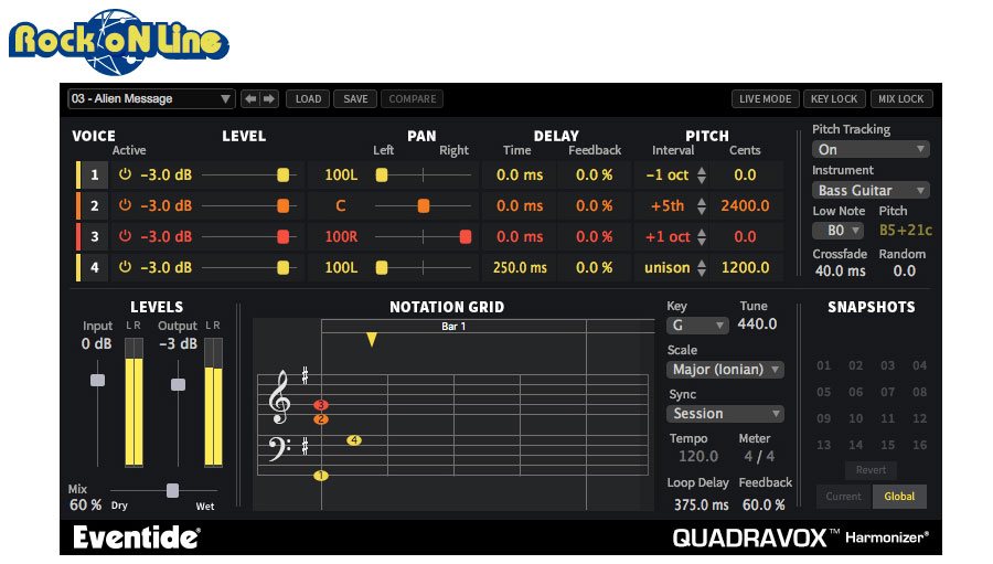PCソフト, 音楽制作 Eventide() QUADRAVOXDTM