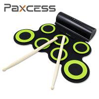【正規品・送料無料】Rockpals電子ドラムポータブルドラム練習用パッドスピーカー内蔵電池付きMP3・USB・イヤホン対応マルチ伴奏デモ機能搭載8デモ曲7個ドラムパッド5音色3リズム充電式電子どらむ