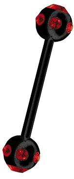 ボディピアス ストレートバーベル 14g スワロフスキー 金属アレルギー 安心 サージカルステンレス 316l 軟骨 ピアス 軟骨ピアス トラガス 軟骨用 つけっぱなし かわいい 舌ピアス ファーストピアス セカンドピアス カワイイ 可愛い