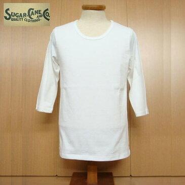 【セール・SALE】 SUGAR CANE Light シュガーケーン ライト Uネック ハーフスリーブ Tシャツ sc77145-white