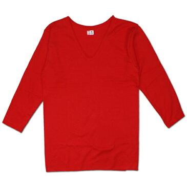 元祖赤パン以心伝心 婦人用 8分袖インナー [赤] 7800 日本製/赤い下着/赤い肌着/健康祈願/アンダーウエア/申年肌着/女性用/レディース/レッド