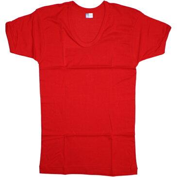 元祖赤パン以心伝心 紳士用 半袖U首 [赤] 日本製/赤い下着/赤い肌着/健康祈願/アンダーウエア/申年肌着/男性用/メンズ/レッド/還暦祝い