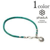 phaduA (パドゥア) ターコイズ ビーズ アンクレット / メンズ / レディース / ペア / アクセサリー / シルバー