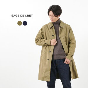 【20%OFF】SAGE DE CRET(サージュデクレ) P/C ツイル ステンカラーコート / メンズ / コットン ポリエステル ツイル / 日本製 / P/C TWILL SOUTIEN COLLAR COAT / liou【セール】