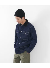 FOB Factory Denim Work Jacket F2385: Rinse