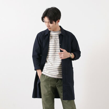 FOB Factory French Shirt Coat F2395: Navy