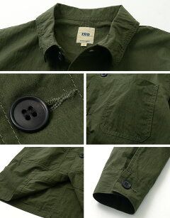 FOB Factory French Shirt Coat F2395: Olive