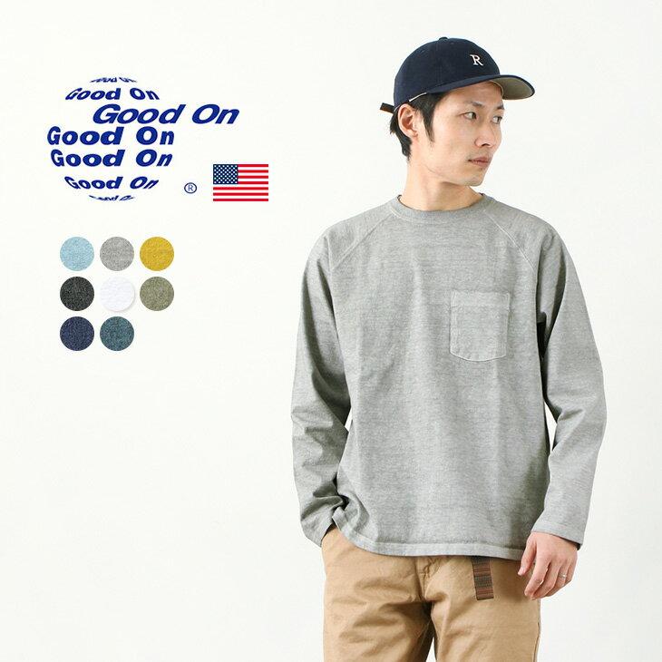 トップス, Tシャツ・カットソー GOOD ON T GOLT1805 LS HVY RAGLAN PK TEE