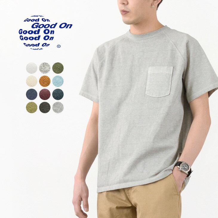 トップス, Tシャツ・カットソー GOOD ON T GOST1101 SS HVY RAGLAN POCKET TEE