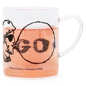 逃げ恥雑貨の耐熱ガラスのマグカップ