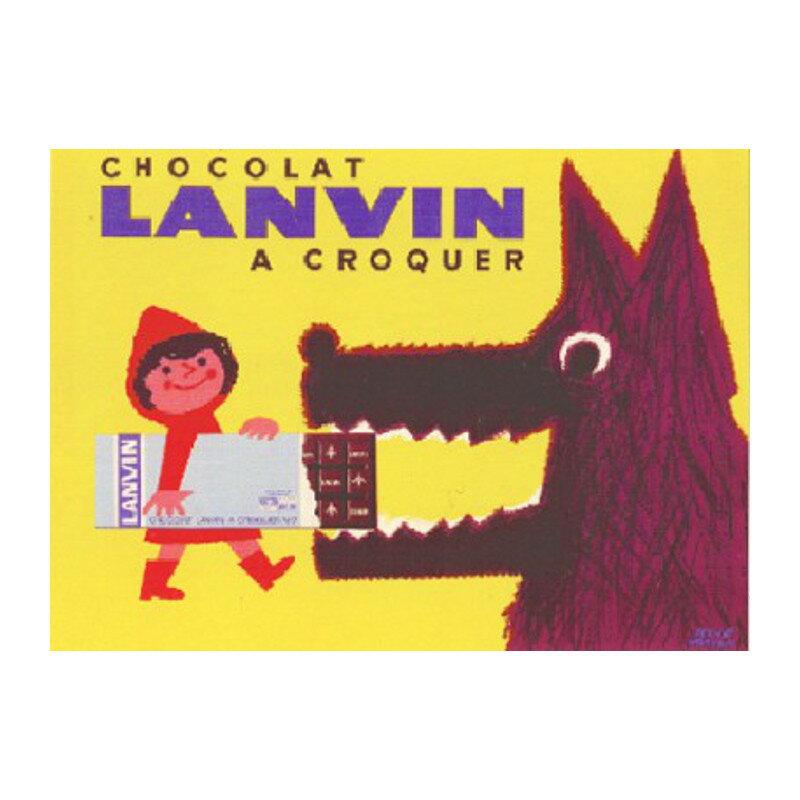 フランス HERVE MORVAN エルベ・モルヴァン CHOCOLAT LANVIN ポスター