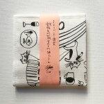 トラネコボンボン+倉敷意匠計画室蚊帳生地七枚合わせの猫ふきん