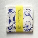 トラネコボンボン+倉敷意匠計画室蚊帳生地七枚合わせの犬ふきん