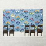 YokoMatsumotoマツモトヨーコポストカード椅子花柄の壁紙