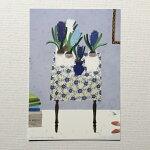 YokoMatsumotoマツモトヨーコポストカードテーブル花柄のテーブルクロスヒヤシンス本ウッドボックス