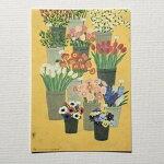 YokoMatsumotoマツモトヨーコポストカードお花屋さんフラワーショップ