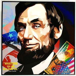 Abraham Lincoln / エイブラハム リンカーン「ポップアートパネル Keetatat Sitthiket」ポップアートフレーム アートボード グラフィックアート ウォールアート 絵画 壁立て 壁掛けインテリア 額 ポスター プレゼント ギフト インスタ映え 偉人 キータタットシティケット
