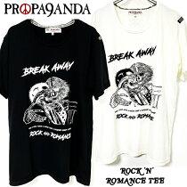 PROPA9ANDA/プロパガンダ「ROCK'N'ROMANCETEE」Tシャツ半袖黒白ブラックホワイトスカルドクロメンズレディース映画TRUEROMANCEロックパンクROCKPUNKバンドギフトラッピング無料ステージ衣装Rogia