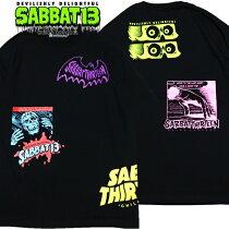 SABBAT13/サバトサーティーン/サバト13「HODGEPODGET」Tシャツ半袖黒ブラックスカルドクロバックプリントアメコミタッチメンズレディースロゴロックパンクバンドROCKPUNKフェスギフトラッピング無料ステージ衣装Rogia