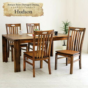 ダイニングテーブルセット 5点セット ダイニングセット 4人用 4人掛け 無垢 幅150cm アジアン エスニック アカシア無垢 天然木 食卓テーブルセット