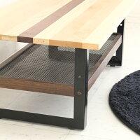 センターテーブルおしゃれ木製モダン90棚付きシンプル