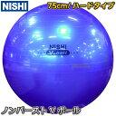 【NISHI ニシ・スポーツ】バランスボール ノンバーストVボール75...