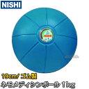【NISHI ニシ・スポーツ トレーニング】ネモメディシンボール 1kg 直径19cm ブルー NT5881C スト...