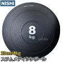 【ニシ・スポーツ NISHI】スラムメディシンボール 8kg NT5938A ストレングスストレーニング 筋トレ ニシスポーツ